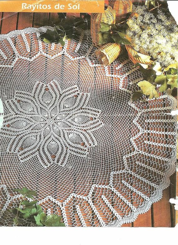Big Round Crocheted Doily Rayitos De Sol by CrochetMiracles, $95.00 ...