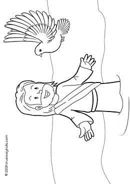 free printable bible coloring page the holy spirit descends on jesus in the form of a dove