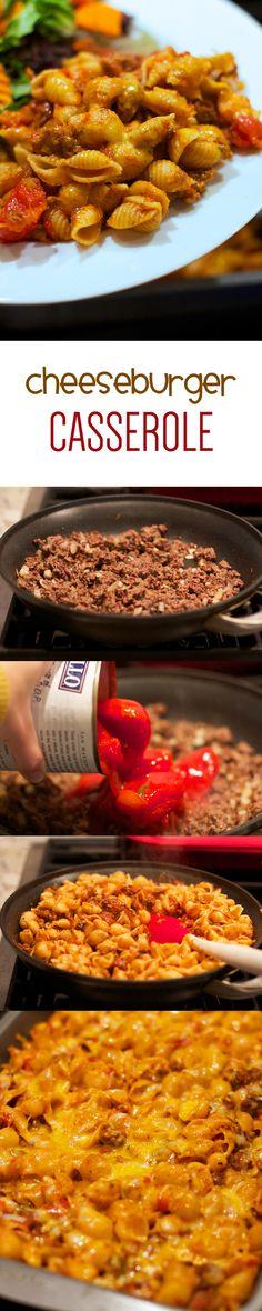 Cheeseburger Casserole...ready in 30 minutes. YUM YUM YUM.