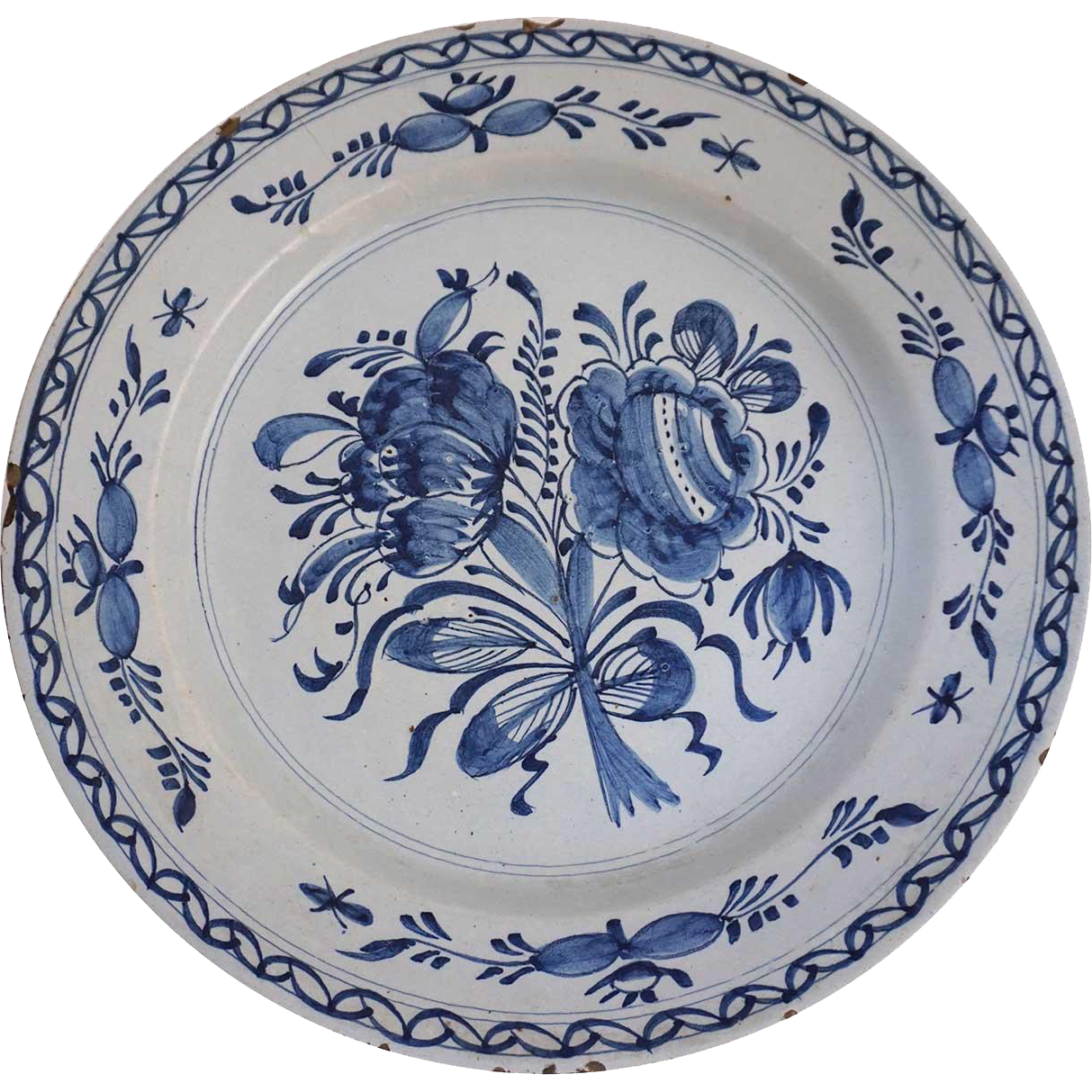 Dutch Delft Blue And White Faience Charger Plate Delft Blue Pottery Blue And White