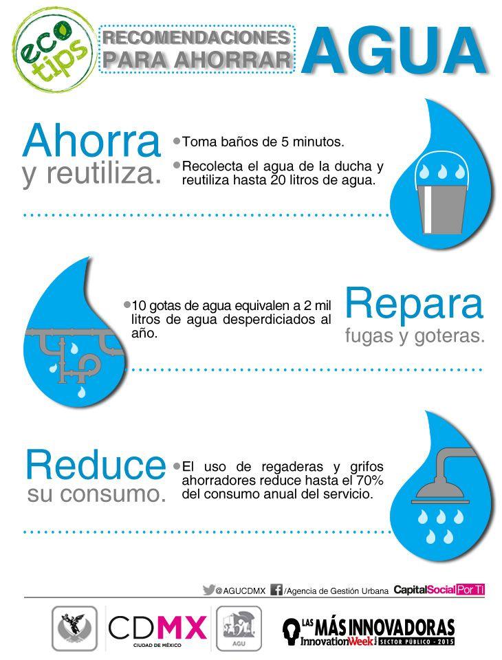 Sigue estos ecotips para ahorrar agua cuid mosla es de for Ideas para ahorrar agua