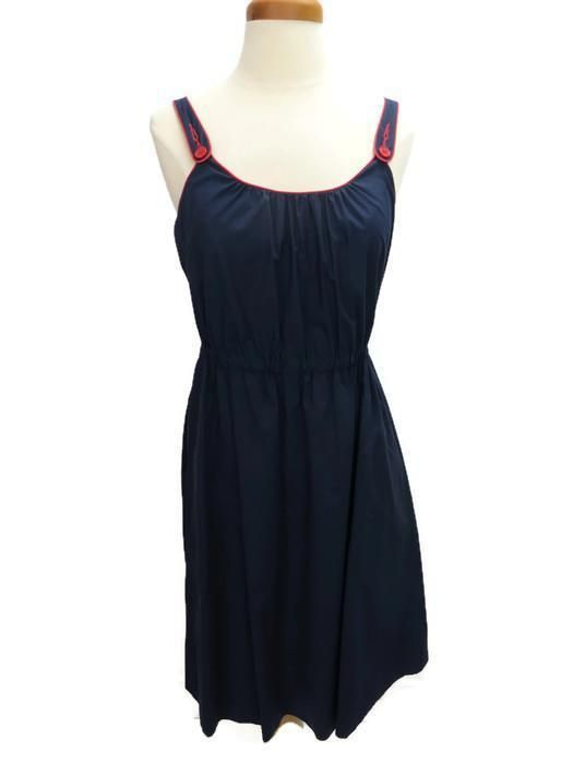 0eb482df9d3 Theory Dress Navy Blue Size Small U Neck Sleeveless Lined Elastic Waist # Theory #EmpireWaist #Casual
