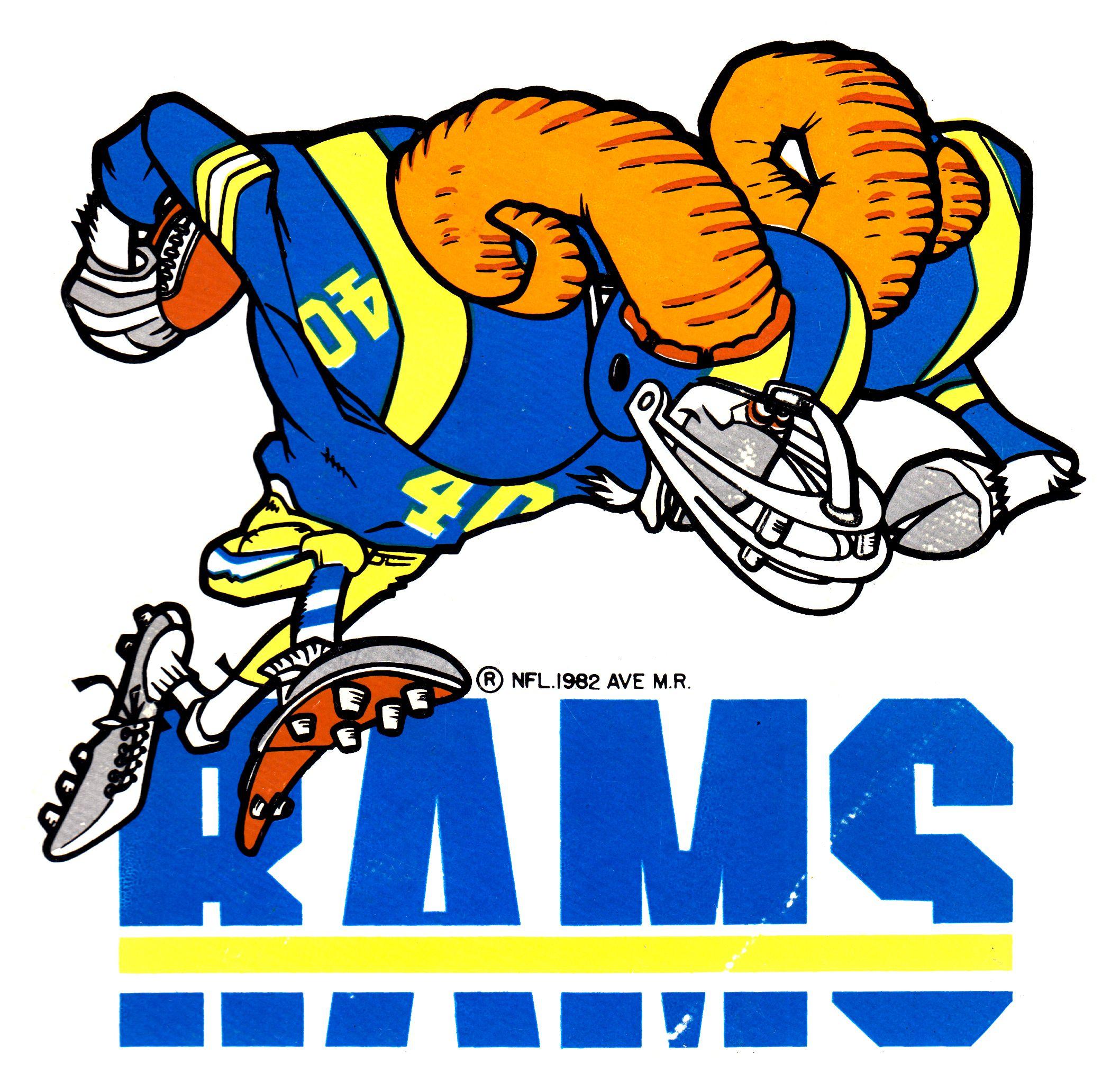 Rams Jack Davis Nfl 1982 Ave Nfl Football Art Los Angeles Rams Logo Seahawks Mascot