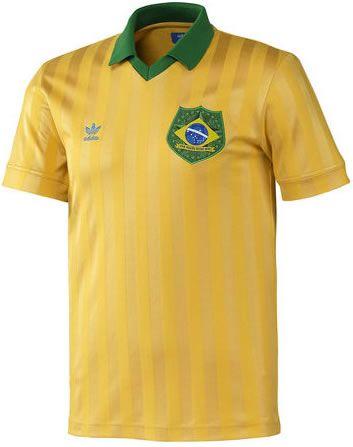 BRAZIL BRASIL ADIDAS Originals Football Shirt Jersey 1974 World Cup