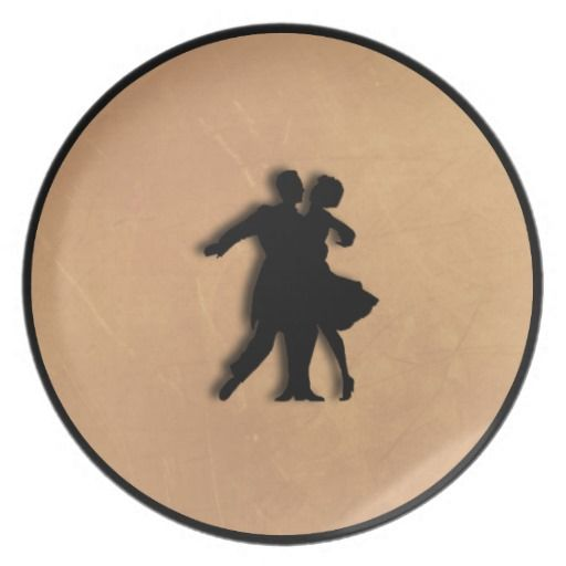 Dancing Couple Diner Plate  15% off #zazzle #leatherwooddesign #shop