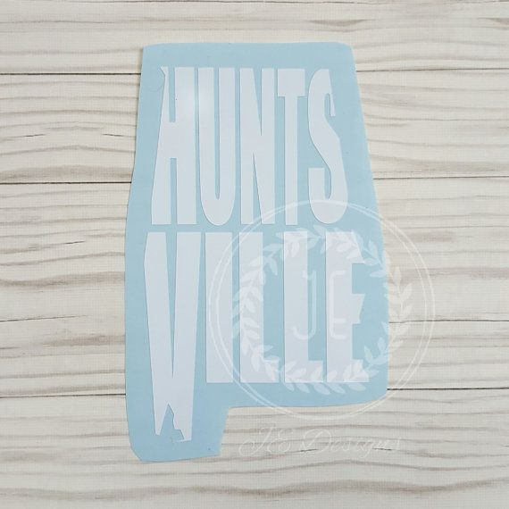 Huntsville alabama al vinyl decal state city by jedesignshop