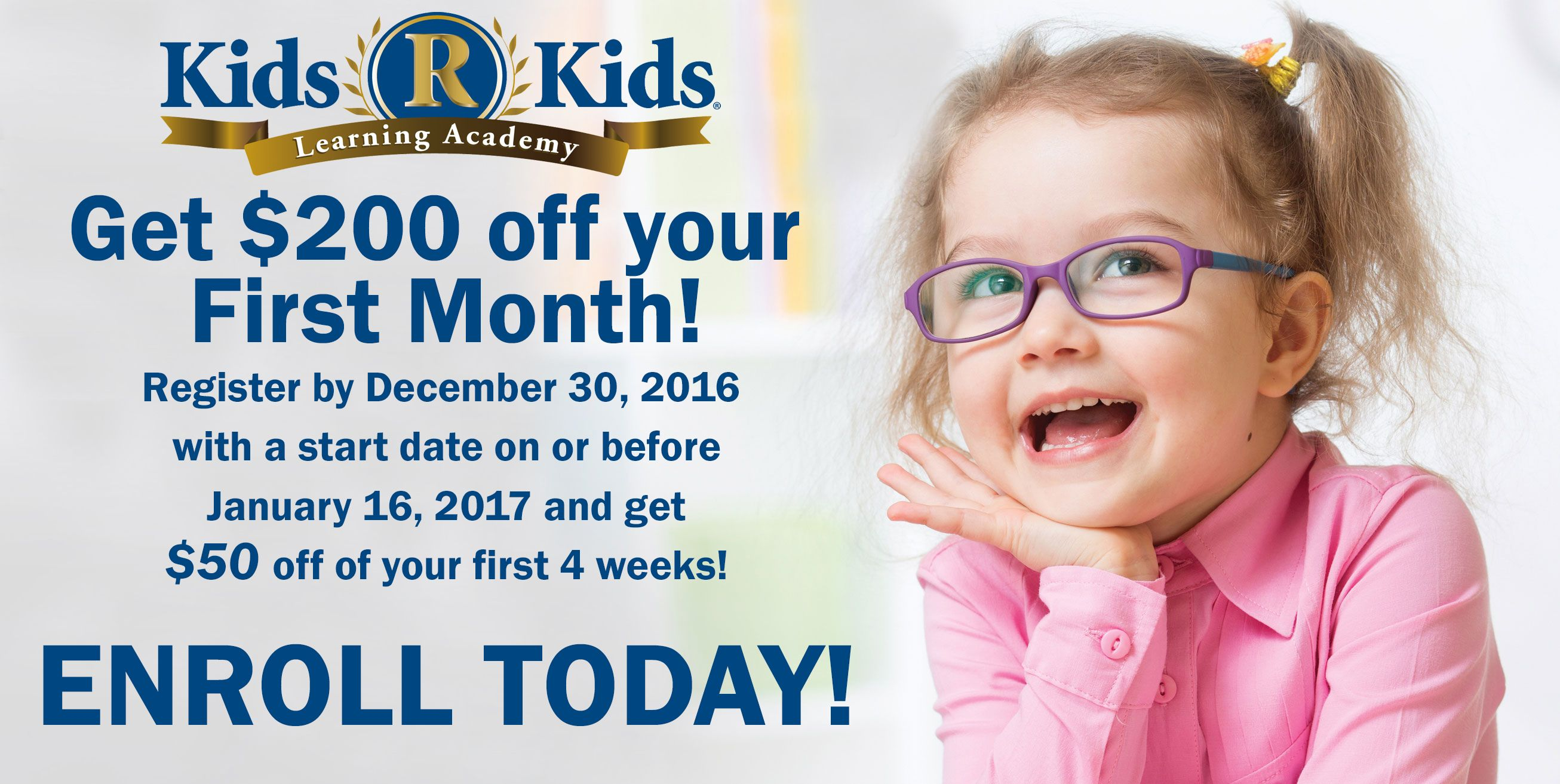 Save $200 off of your first month!