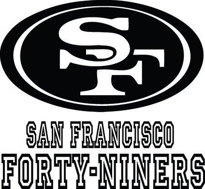 San Francisco Fortyniners 49ers Football Logo By Vinylgrafix Nfl