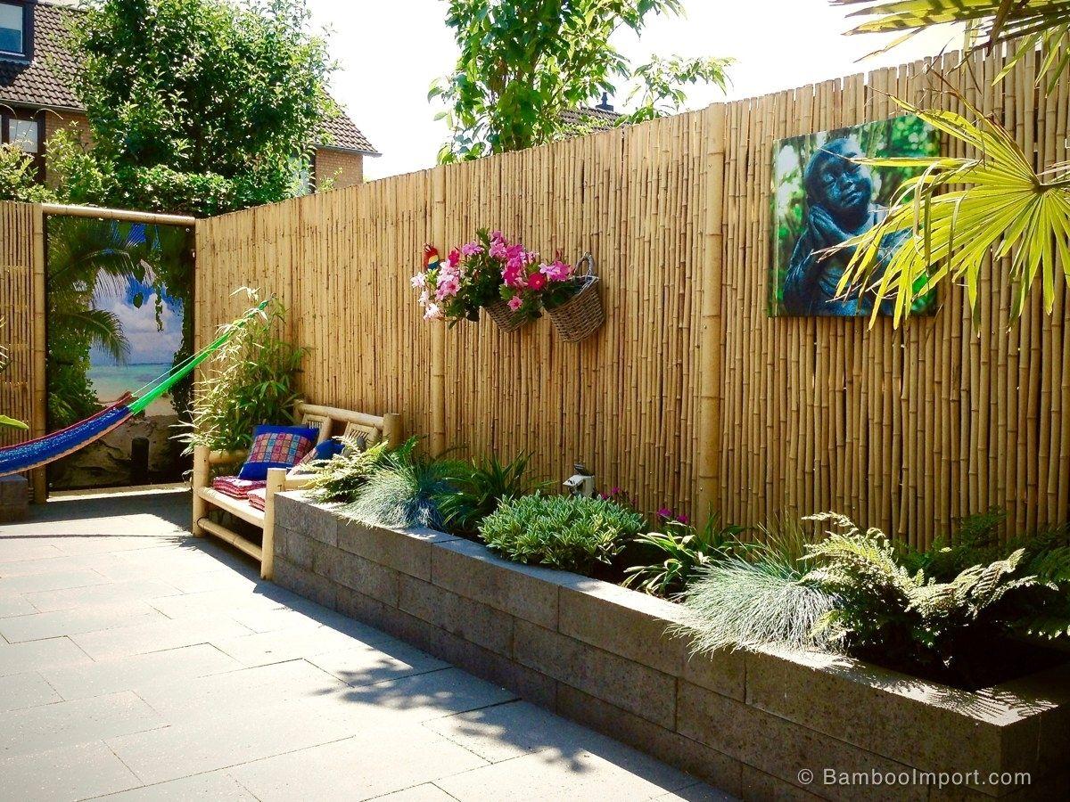 Image Of 26 Bamboo Fencing Ideas For Garden Patio Or Balcony