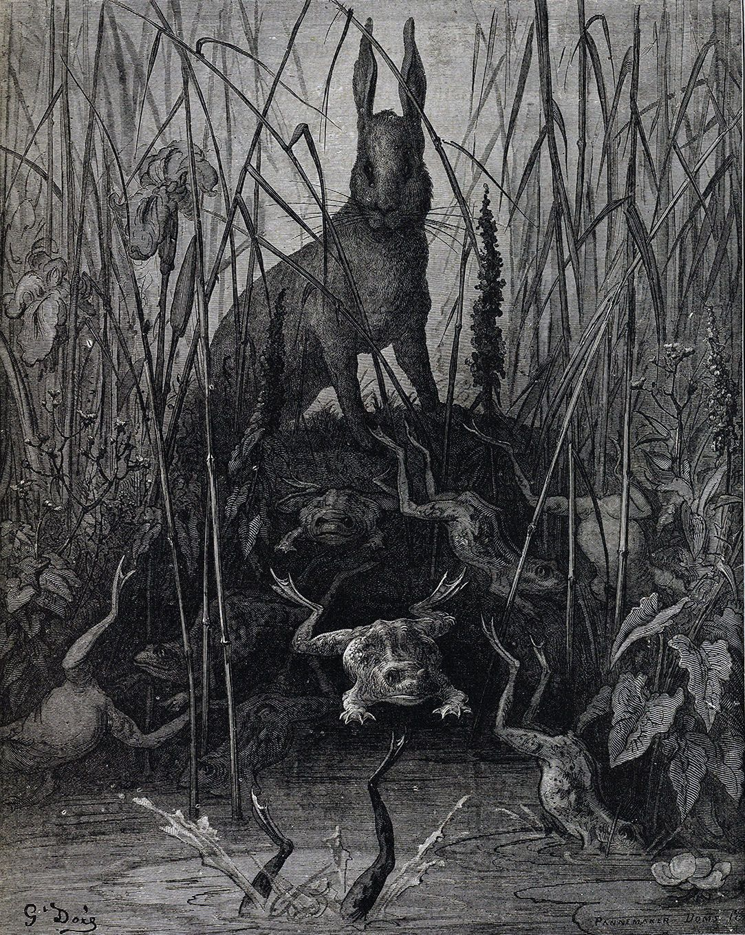 Jean De La Fontaine S 17th Century Collection Of Fables Was A Popular Topic For Victorian Illustrators Judging By The Number Of Gustave Dore Fairytale Art Art