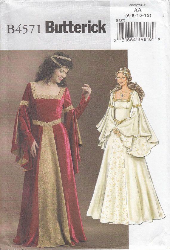 Butterick Sewing Pattern Number 4571 Medieval Renaissance Dress ...