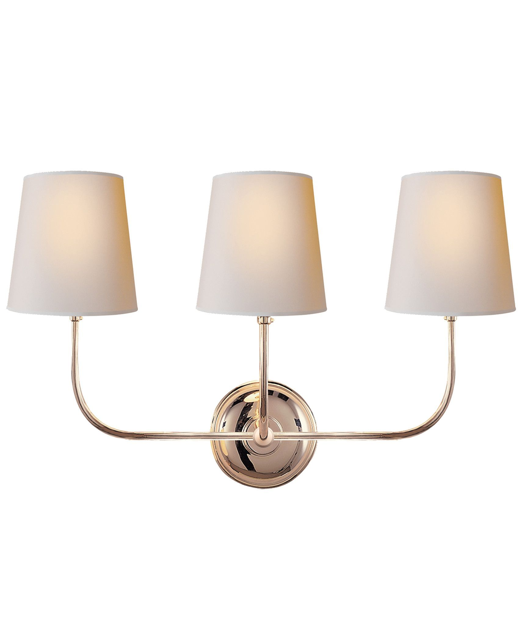 Vendome Triple Wall Sconce Polished Nickel Products