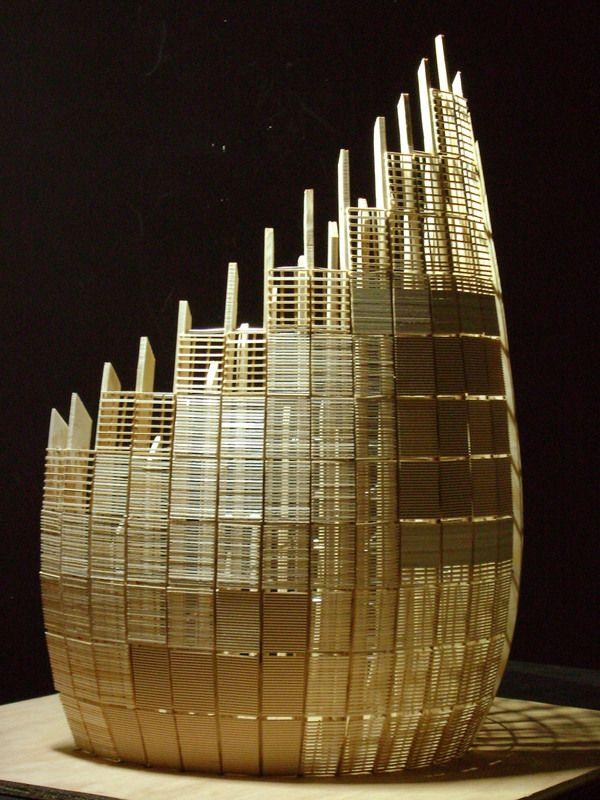 Renzo Piano scale Model by Stefan Gingras, via Behance