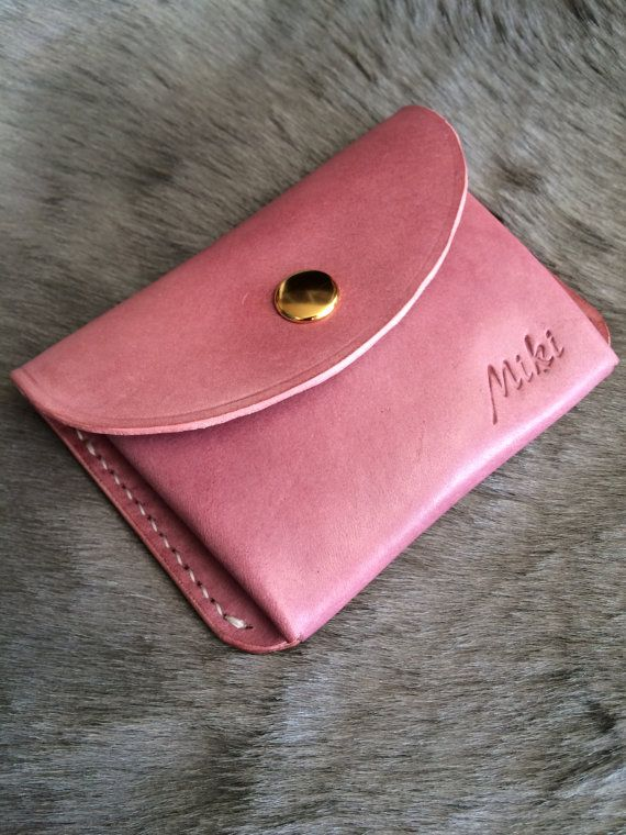 Personalized leather coin purse / coin pouch