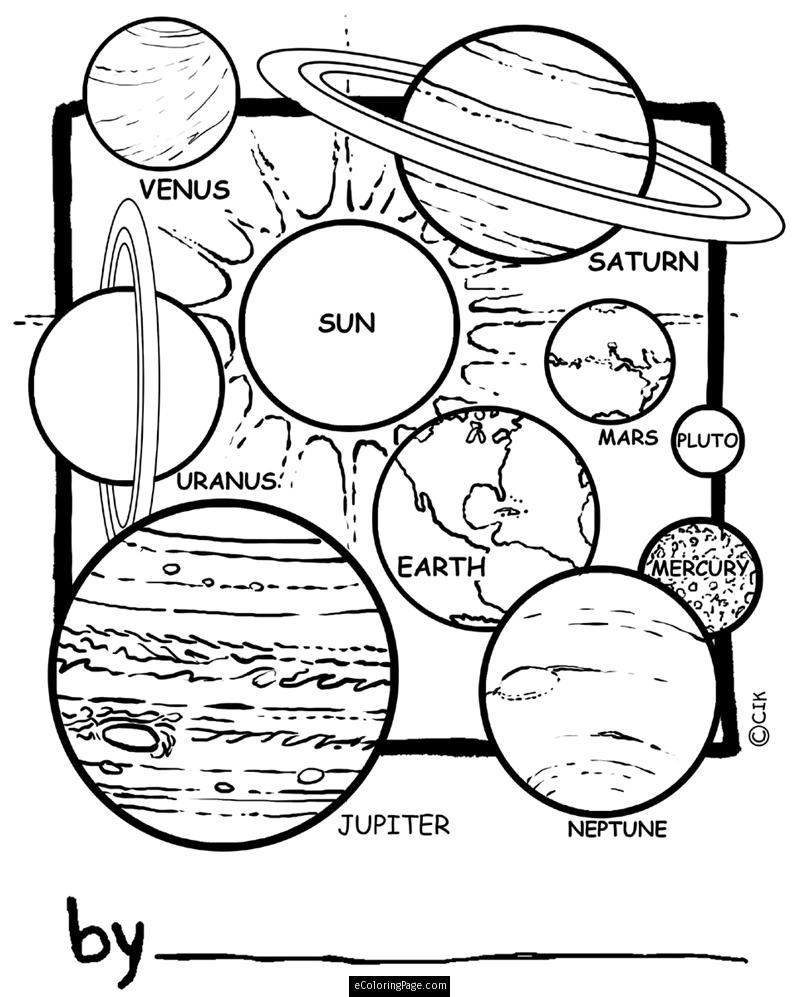 Space Solar System Planets Coloring Page For Kids Printable Planet Coloring Pages Solar System Coloring Pages Space Coloring Pages