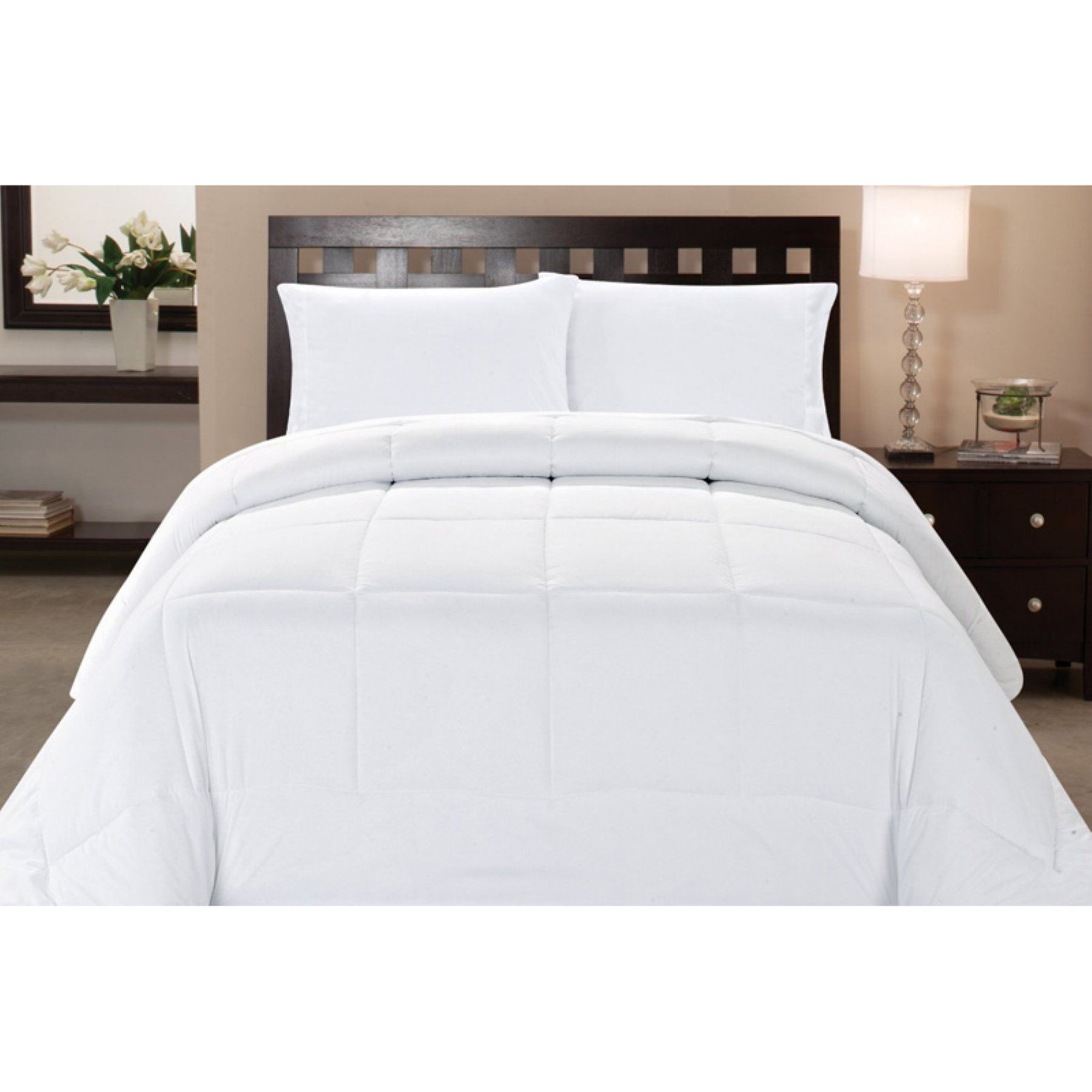 Box Stitch Polyester Down Alternative Comforter By Sweet Home