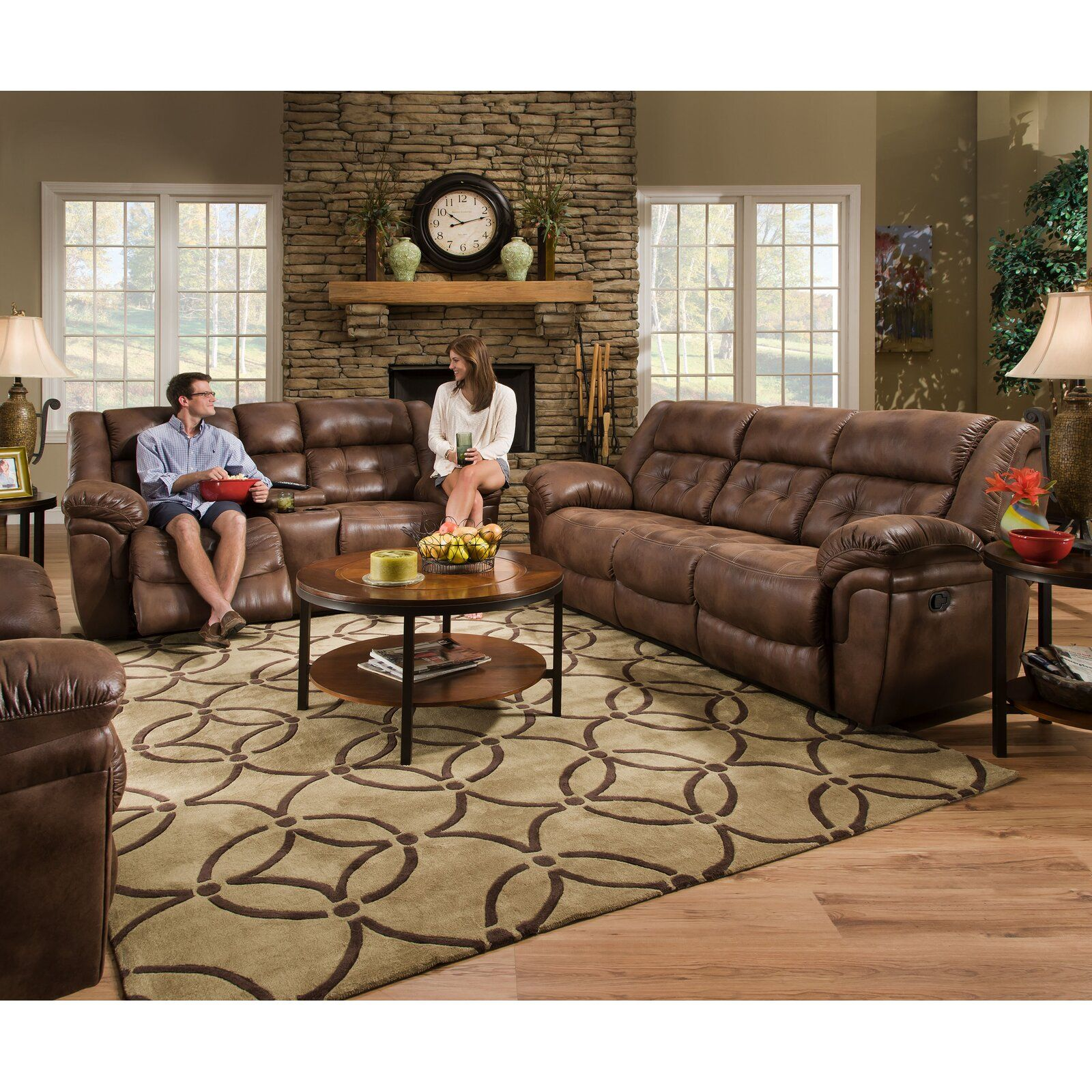 Hanna Reclining Configurable Living Room Set in 2019 | 3 ... on Outdoor Living Room Set id=82773