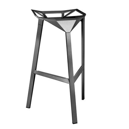 Taburete Teo de Sillas de Diseño, negro   ACHICA