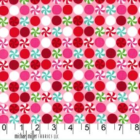 Holiday Peppermint Dot in Pink