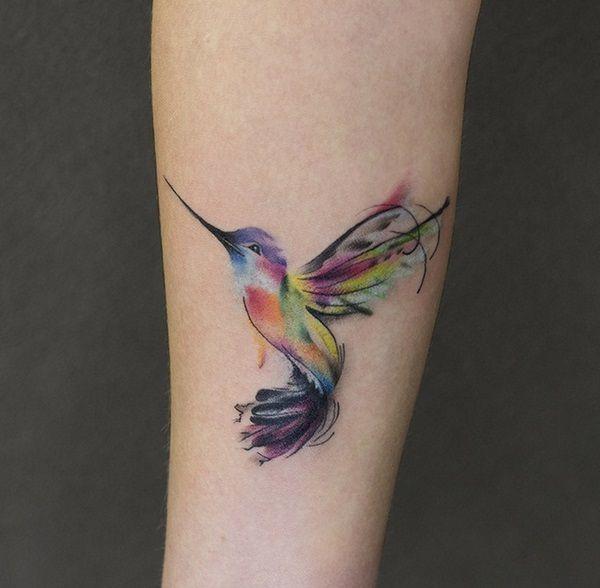 Photo of idées de tatouage aquarelle colibri