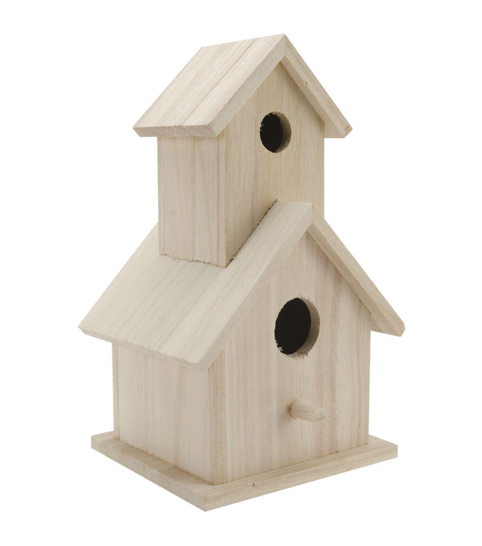 Wood Two Story Birdhouse 5 1 2 X9 X4 1 2 Jo Ann Bird Houses Bird Houses Diy Bird Houses For Sale
