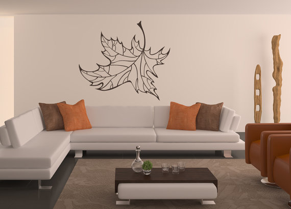 Maple Leaf Leaf Decal Leaf Decor Leaves Fall Decor Wall Art - Wall decals leaves