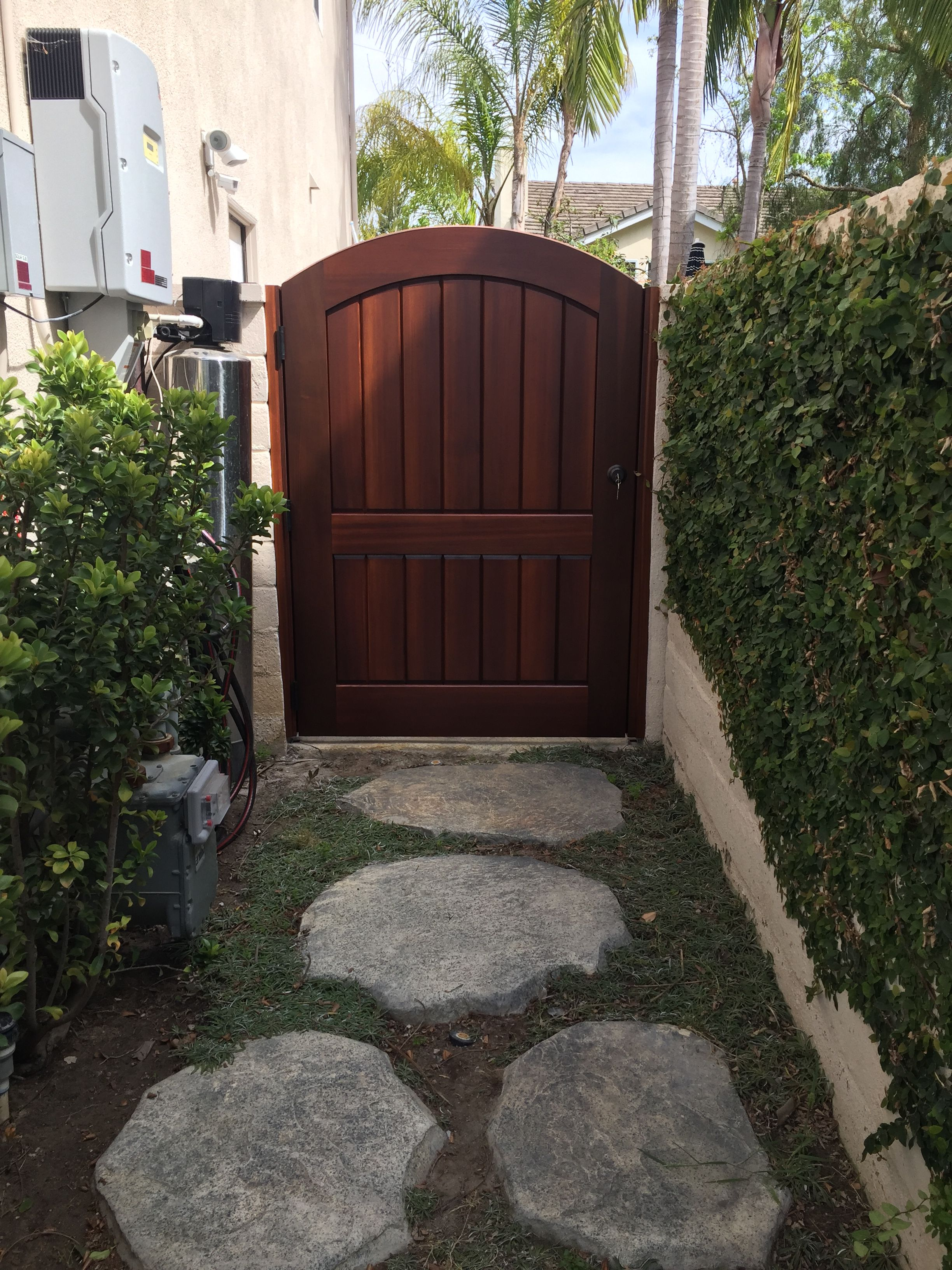 Custom Wood Gate by Garden Passages - Simple Arched Top ...