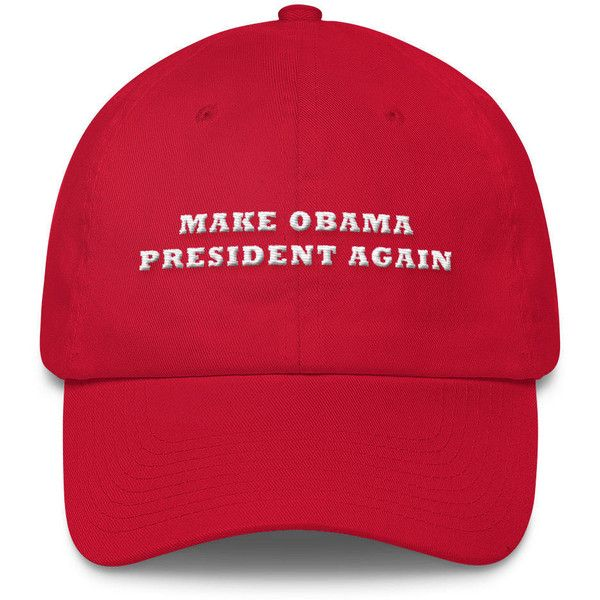 0e00181e2e461 Make Obama President Again Hat MOPA Barrack Obama Red Dad Hat Dad Cap ( 30)  ❤ liked on Polyvore featuring accessories