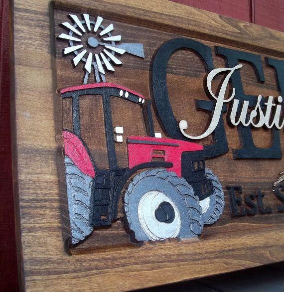 Farm scene red tractor anniversary gift wedding gift for International harvester wall decor