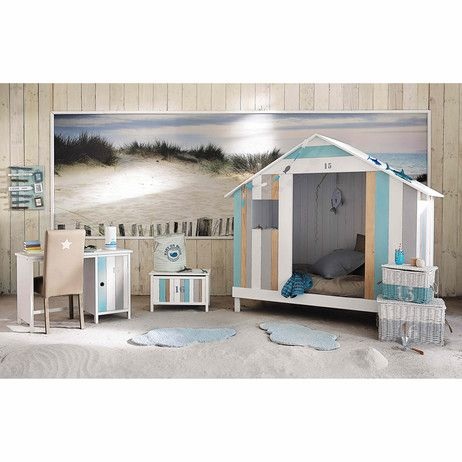 lit cabane enfant blanche ocean