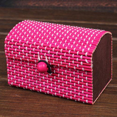 DIY Craft Bamboo Wooden Storage Boxes Organizer for Storing Women