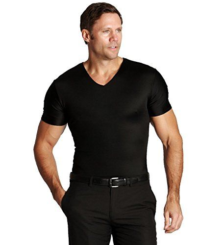 d2de8db879 Insta Slim Compression VNeck TShirt Black Large Shapewear for Men -- To  view further for this item