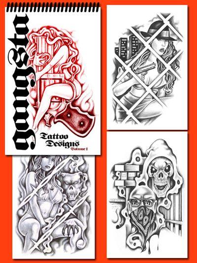 Gangsta Tattoo On Left Half Sleeve