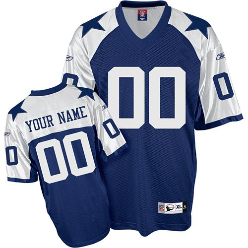 huge discount d9259 85f9c Reebok Dallas Cowboys Customized Authentic Blue Thanksgiving ...