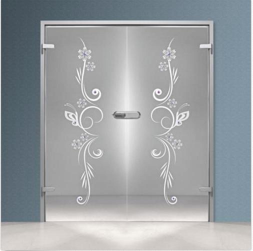 Interior Swing Glass Door Transparent Glass Curved Lines Design Glass Door Us Double Glass Doors Door Glass Design Design