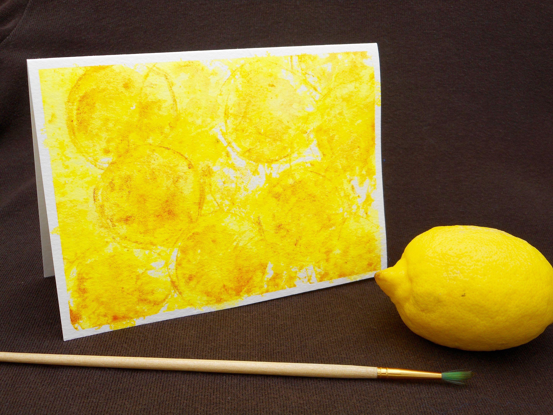 LOVE LEMONS ART Card,Sunny Burst of Lemon Sunshine Kitchen Art Card Lemon Citrus Watercolor Art Card Hand Painted One Of A Kind Lemon Art