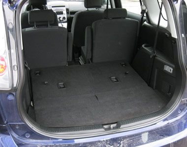 2006 Mazda 5 Third Row Seats Folded Down Mazda Mini Van