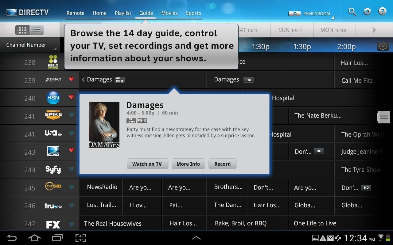 DIRECTV App Guide Android Directv