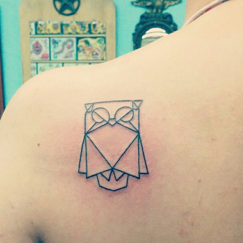 The first in a series of origami tattoos I will be getting! (And my first tattoo ever)