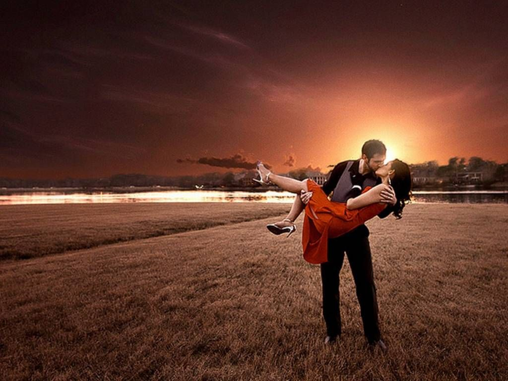 Beautiful Romantic Love Hd Wallpapers For Couples: Romantic Couple Hot Kiss HD