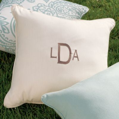 Monogrammed Outdoor Pillows