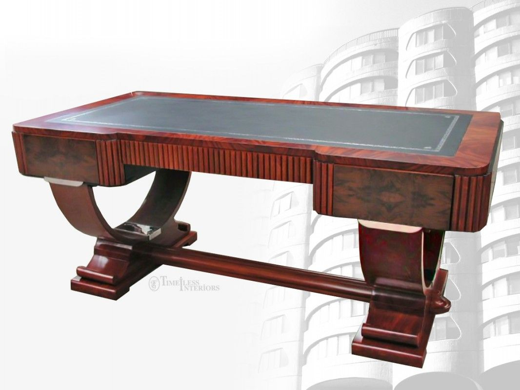 art deco hoop base desk love this look and would look great as an