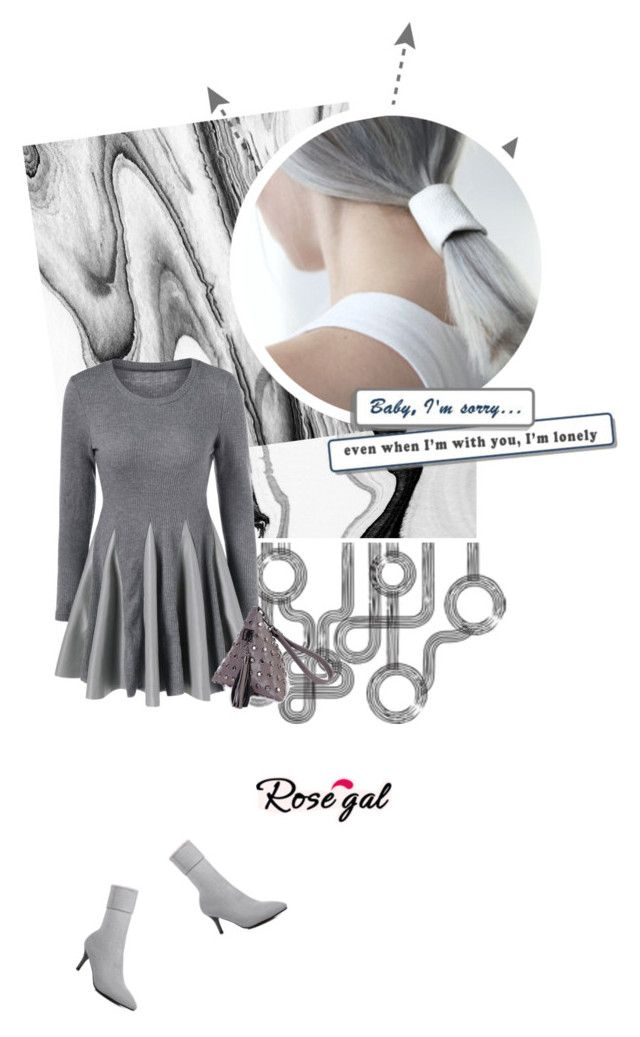 """""""Rosegal"""" by mymilla ❤ liked on Polyvore featuring grey, polyvoreeditorial, polyvorefashion and rosegal"""