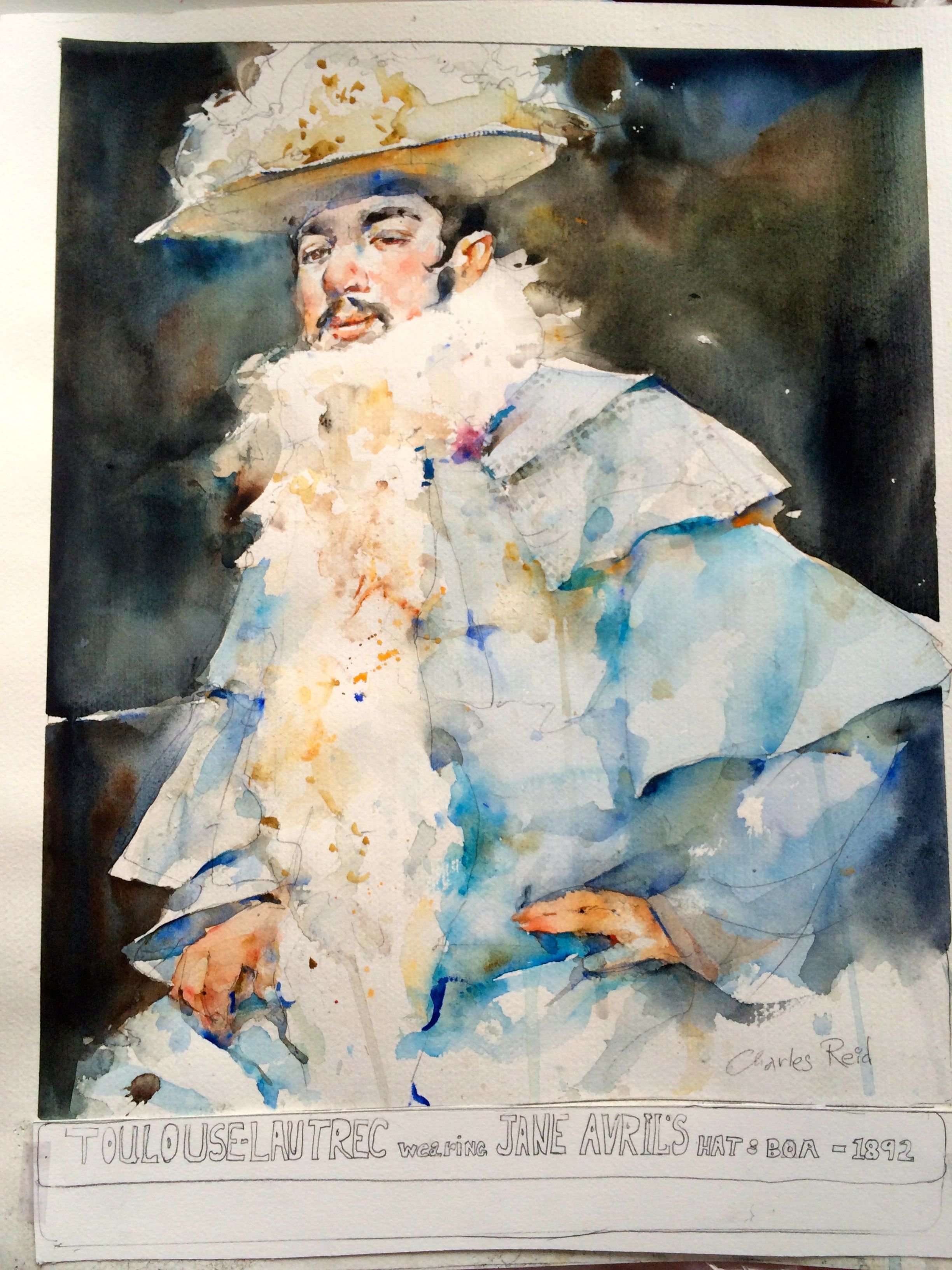 Toulouse Lautrec By Charles Reid Mixed Media Painting Painting