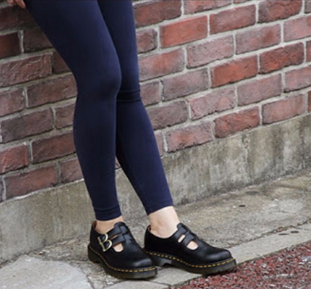 Dr. Martens SHOES 8065 Mary Jane In Black Smooth LEATHER 6.5 NEW