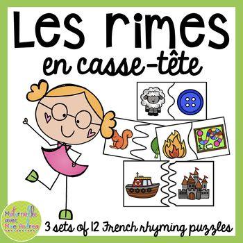 Cut Les En PuzzlesMaternelle Casse Têtefrench Rhyme Rimes CEBrxeQdoW