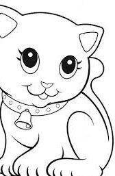 imagenes de gatos para colorear infantiles | pintura tela | Gatito