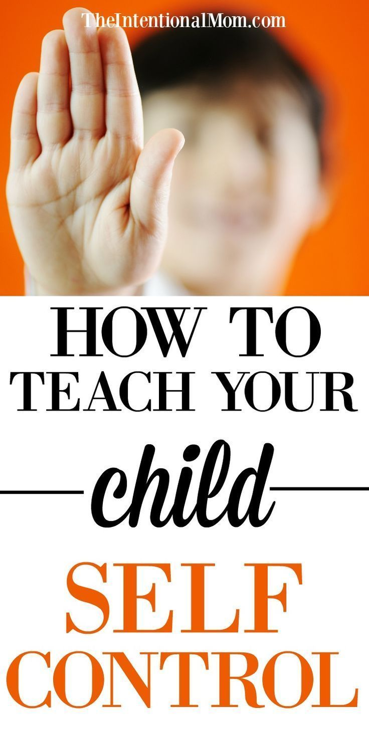 How to teach your child self control self control