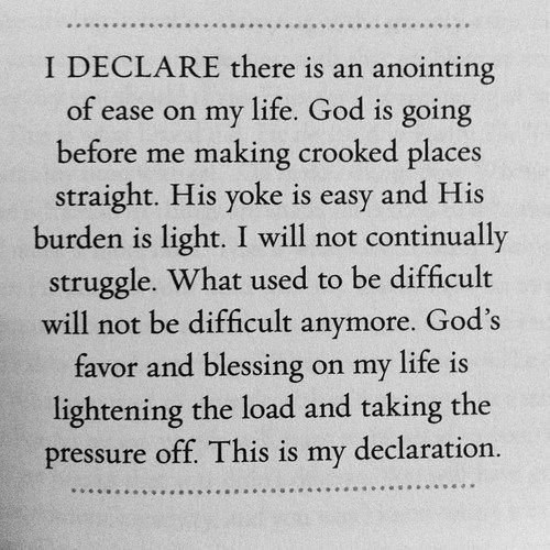 #God's #favor and #blessing on your life is lightening your load and taking the pressure off!  #jcluforever #faith #scriptureoftheday