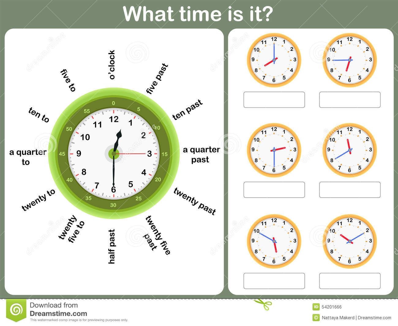 worksheet Telling Time In Spanish Worksheets telling time worksheet write the shown on clock stock stock